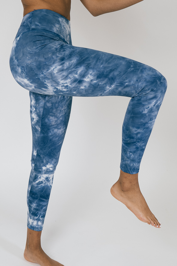 Blue washed out leggings