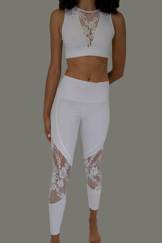 White 2 piece with flowers
